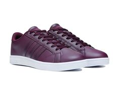 Look old school in new school comfort with the Neo Baseline Cloudfoam Sneaker from adidas.Leather upper in a casual low top fashion sneaker style with a round toeLace up frontPerforated side and toes for breathabilityThree stripe detail on sidesNEO label on tongueLightly padded collarFabric lining, cushioning Cloudfoam insoleVulcanized rubber outsoleShoe runs big: it is recommended to order one half-size down