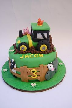 "Tractors 437271445070106822 - Search Results for ""tractor"" – Beautiful Birthday Cakes Source by Tractor Birthday Cakes, 2 Birthday Cake, Tractor Cakes, Birthday Cake Kids Boys, Birthday Ideas, Beautiful Birthday Cakes, Farm Cake, Farm Party, Cakes For Boys"