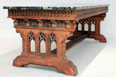 19th C. Gothic Revival Table