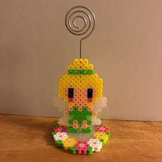 Made a photo holder #perlerbeads #tinkerbell #perlerart #perler