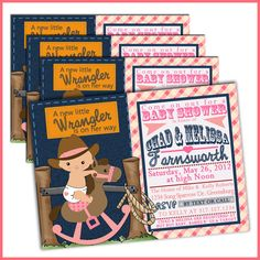 Cowgirl Baby Shower Invitation For Girl Vintage By JjMcBean | Baby Shower  Ideas | Pinterest | Themed Baby Showers, Baby Showers And Cowgirl Baby  Showers