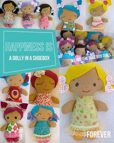 Free Charity Easy Rag Doll Sewing Pattern - Small 10 & 8 inch dollies