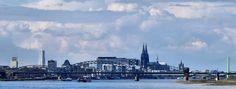 Cologne Rhein Panorama van Günter Walther