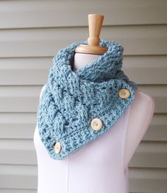 PATTERN C-027 / Crochet Pattern / COLBY Cowl ... worsted 300