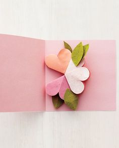 Craft mom a pop-up greeting card with an everlasting bouquet for Mother's Day.