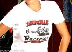 Irwindale Raceway 1985 Vee Neck Classic Colors Nascar Races Original Cowgirl Co.