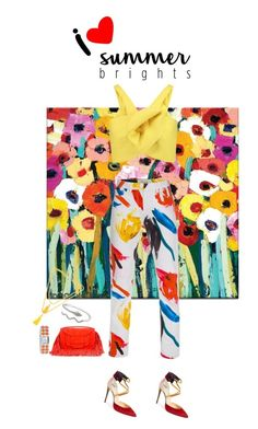"""""""summer bright"""" by fanfan-zheng ❤ liked on Polyvore featuring Delpozo, Paul Smith, Christian Louboutin, Pierre Hardy, Kenneth Jay Lane, Rosantica and summerbrights"""