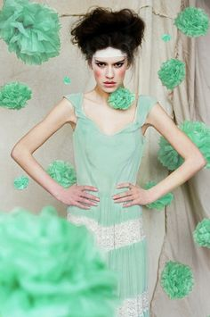Love the mint green - teaming it up with soft pink for decorations!