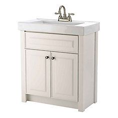 Woodnote Kitchens and Baths - 24 In. Keystone Vanity Ensemble in a Matte White Finish - 15050 - Home Depot Canada Home Depot Bathroom Vanity, Master Bathroom Vanity, Bathroom Vanity Units, Bathroom Cleaning, Small Bathroom, White Bathrooms, Bathroom Remodeling, New Bathroom Designs, Bathroom Design Inspiration