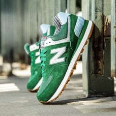 New Balance women's WL574SPA Picnic in green // $80 USD  Available now online at BAITme.com/footwear. #NewBalance #BAIT