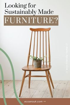 Here's an EPIC list of 30 stunning, eco-conscious, sustainably made furniture brands for your home! Check out what makes them sustainable and how. Bamboo Furniture, Recycled Furniture, Home Office Furniture, Furniture Making, Office Organization Tips, Farm Lifestyle, Resource Furniture, Atlantic Furniture, Sustainable Furniture