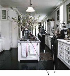 Dream Kitchen ~ Roman and Williams [Love the Black Floors]