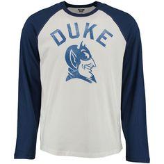Duke Blue Devils Arch Logo Vault 3/4-Sleeve Raglan T-Shirt - White/Royal