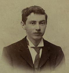 Antique, Early 1900s Photograph of Edwardian Young Man, from the Studio of Hamilton Foyn, Penmaenmawr, North Wales, United Kingdom