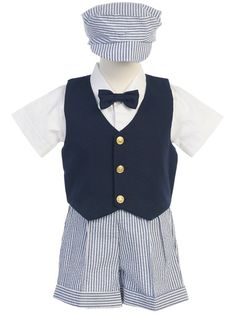 $37.80  Adorable little boy Easter outfits. How cute is that little hat?  #boys clothing  #Maylees Boutique