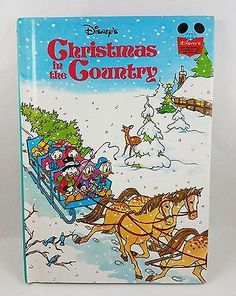 Disney Christmas In The Country Hardcover Book 1982 Glossy Cover
