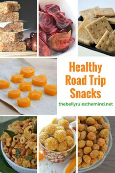 Hitting the road? Skip the junk food and make your own healthy snacks to go. Easy and quick recipes for the road. Healthy Road Trip Snacks - http://thebellyrulesthemind.net/2016/05/healthy-road-trip-snacks/