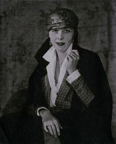 Djuna Barnes (1892-1982) - American poet, playwright, journalist, visual artist and short-story writer. Photo by Berenice Abbott.