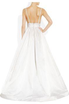KAUFMANFRANCO Silk-satin gown NET-A-PORTER.COM