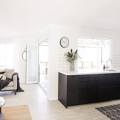 Home Improvement Consultancy and Management New Living Room, Kitchen Living, Long Sofa, Open Plan Living, Coastal Homes, Double Vanity, Beach House, Home Improvement, Rooms