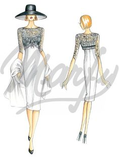 Model 3153   Sewing Pattern Dress