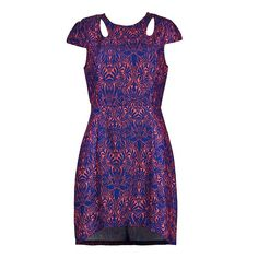 PRINT DRESS WITH CUT OUT DETAILS