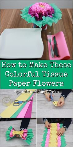 How to Make These Colorful Tissue Paper Flowers Learn how to make colorful tissue paper flowers the simple way! Paper flowers are perfect for parties and decorating! The post How to Make These Colorful Tissue Paper Flowers appeared first on Diy Flowers. Tissue Flowers, Tissue Paper Flowers, Diy Flowers, Flower Crafts, Tissue Paper Crafts, Diy Paper, Paper Garlands, Paper Decorations, Paper Gifts
