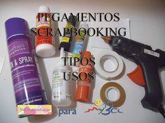 Pegamentos scrapbooking, tipos y usos, tutorial comparativa