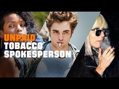 """New Truth campaign premieres on VMA's. The commercial calls out stars for smoking cigarettes by showing candid, mostly unflattering photos of the offending celebrities holding cigarettes in their mouths or hands. Text reading """"UNPAID TOBACCO SPOKESPERSON"""" flashes over each photo."""
