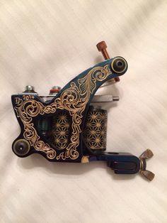 Dringenberg tattoo machine. Hand engraved by Dan Dringenberg