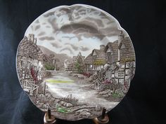 """Johnson Brothers Olde English Countryside Brown Vintage 10"""" Dinner Plate by RuthiesCollectables on Etsy"""
