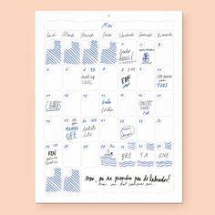 Wall Memo Calendar, calendrier ludique pour une meilleur organisation, édition Moulin Flèche