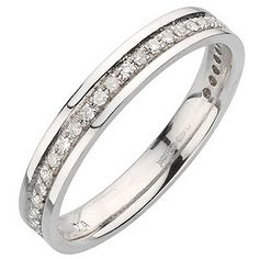 9ct white gold 15pt diamond ring  - Ernest Jones
