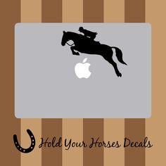 Hunter Jumper - Macbook Decal Vinyl Sticker Laptop Apple Computer Horse Pony Riding Car Window Truck Decal Jumping Equestrian Dressage Art