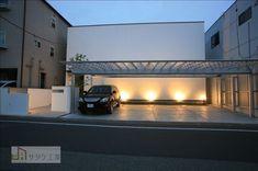 Garage House, Modern Architecture, Facade, Concrete, Outdoor Decor, Home, Garage Exterior, House With Garage, Garages