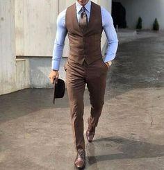 Mens classy outfits, classy suits, dress pants, men dress, mens fashion s. Wedding Men, Wedding Suits, Wedding Tuxedos, Mens Fashion Suits, Mens Suits, Classy Mens Fashion, Brown Suits For Men, Mens Classy Outfits, Suit For Men