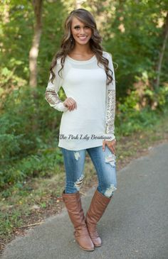 Arm Candy Sequin Sweater Ivory