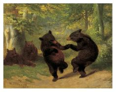 Dancing Bears by William Holbrook Beard, 1825-1900
