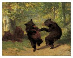 Dancing Bears by William Holbrook Beard, 1825-1900