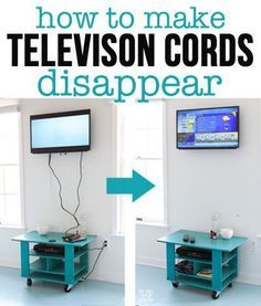 How to hide cords on a wall mounted television with In My Own Style