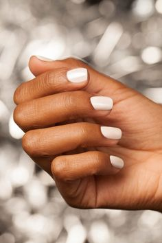 "#OPIChrome give you a shine that can't be beat. Get this look by layering ""Tin Can Man"" over ""Alpine Snow"""
