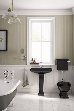 Black & white in a modern Victorian style - Bathroom Design Ideas - Images (houseandgarden.co.uk)