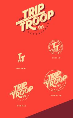 Trip Troop-Branding on Behance Typography Logo, Logo Branding, Branding Design, Lettering, Game Design, Web Design, Graphic Design Fonts, Typography Poster Design, Logo Panaderia