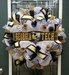 Georgia Tech WreathYellow JacketsGA Tech by SentimentalDecor
