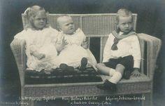 Sybilla, Hubertus, and Johann Leopold of Saxe-Coburg-Gotha.