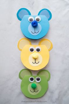 """Crafts, Father's Day, Holidays, Children Crafts & Activities Bear Crafts Do you love to call Papa """"Papa Bear""""? We love Mama Bear and Papa Bear in our house and think that a bear card Halloween Crafts For Kids, Easy Crafts For Kids, Craft Activities For Kids, Toddler Crafts, Preschool Crafts, Diy For Kids, Children Crafts, Craft Ideas, Creative Crafts"""
