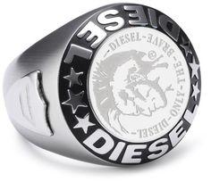#Diesel – DX0182040 – #Bague Acier Homme – Rond Logo Diesel – T63