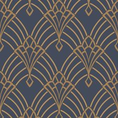 305340 – Rasch Astoria Deco Blue/Gold Our stunning, art-deco inspired glitter wallpaper, will add a touch of class to any room in your home.Our stunning, art-deco inspired glitter wallpaper, will add a touch of class to any room in your home. Wallpaper Art Deco, Glitter Wallpaper, Of Wallpaper, Gold Ornament Wallpaper, Office Wallpaper, Feature Wallpaper, Geometric Wallpaper Navy, Geometric Art, Blue And Gold Wallpaper
