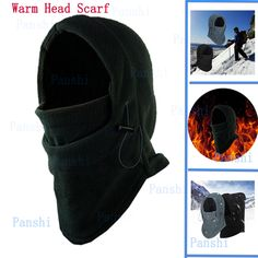 30aeb180689 Winter Hat Scarf Men Windproof Thick Ski Mask Warm Cotton Head Scarves  Fishing Cycling Headgear Outdoor Camping Hiking Equipment