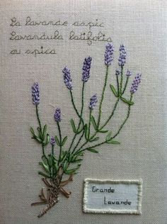 Free lavender embroidery pattern from fleur de ruban - for lavender satchels